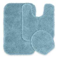 Serendipity 3-Piece Nylon Bath Rug Set in Basin Blue