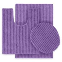 Sheridan 3-Piece Nylon Bath Rug Set in Purple