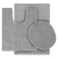 Sheridan 3-Piece Nylon Bath Rug Set in Platinum Grey