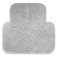 Cabernet 2-Piece Bath Rug Set in Platinum Grey