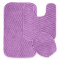 Cabernet 3-Piece Bath Rug Set in Purple
