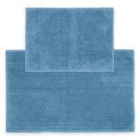 Queen 2-Piece Cotton Bath Rug Set in Sky Blue
