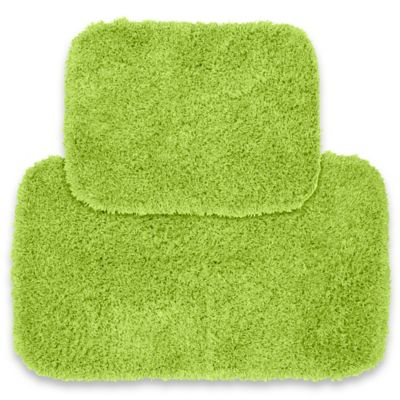 jazz 2 piece bath rug set in lime green