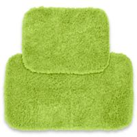 Jazz 2-Piece Bath Rug Set in Lime Green