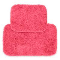 Jazz 2-Piece Bath Rug Set in Pink
