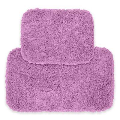 Jazz 2 Piece Bath Rug Set In Purple