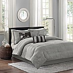 Madison Park Hampton 7-Piece California King Comforter Set in Grey