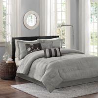 Madison Park Hampton 7-Piece King Comforter Set in Grey