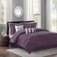 Madison Park Hampton Full/Queen Duvet Cover Set in Plum