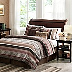 Madison Park Princeton 5-Piece Full/Queen Coverlet Set in Red