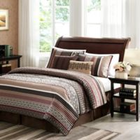 Madison Park Princeton 5-Piece King Coverlet Set in Red
