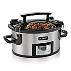 Crock-Pot® 6-Quart Portable Slow Cooker in Stainless Steel/Black