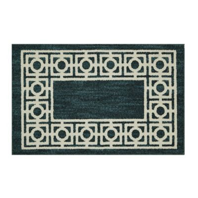 Mohawk Home Signature Davidson 30 Inch X 46 Inch Accent Rug In Teal