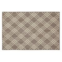 Mohawk Signature Diamond Cross 30-Inch x 46-Inch Accent Rug in Grey