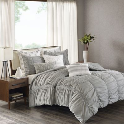 inkivy reese king duvet cover set in grey