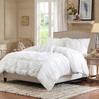 Madison Park Harlow Full/Queen Comforter Set in White