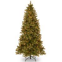 National Tree Company 7.5-Foot Slim Downswept Douglas Fir Pre-Lit Christmas Tree with Clear Lights