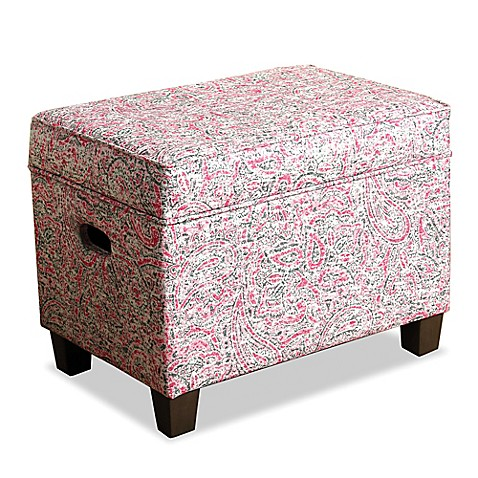 Awesome HomePop Medium Storage Ottoman In Multicolor