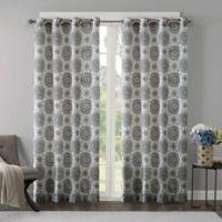 Regency Heights Opus 95-Inch Grommet Top Window Curtain Panel in Grey