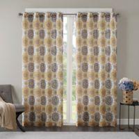 Regency Heights Opus 84-Inch Grommet Top Window Curtain Panel in Gold