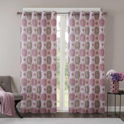Regency Heights Opus 108 Inch Grommet Top Window Curtain Panel In Plum