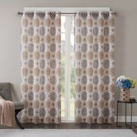 Regency Heights Opus 84-Inch Grommet Top Window Curtain Panel in Taupe