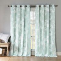 Kensie Aster 84-Inch Grommet Top Window Curtain Panel Pair in Ice