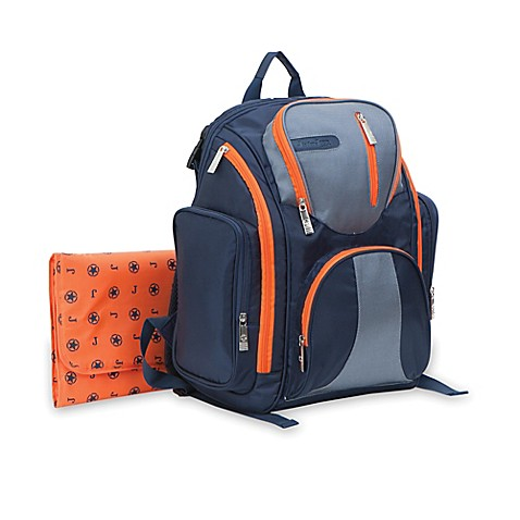 j is for jeep perfect pockets back pack diaper bag in navy buybuy baby. Black Bedroom Furniture Sets. Home Design Ideas