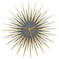 Metal Art Studio RF Triple Stripe Atomic Clock in Grey/Orange
