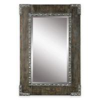 Uttermost Malton 25-Inch x 37-Inch Rustic Wood Wall Mirror