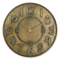 Bulova Frank Lloyd Write Exhibition Typeface Wall Clock in Antique Bronze