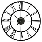 Bulova Carmen Wall Clock in Rustic Iron