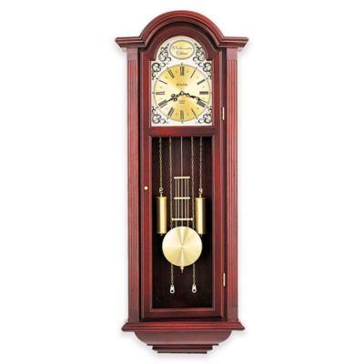 bulova tatianna pendulum wall clock in mahogany - Pendulum Wall Clock