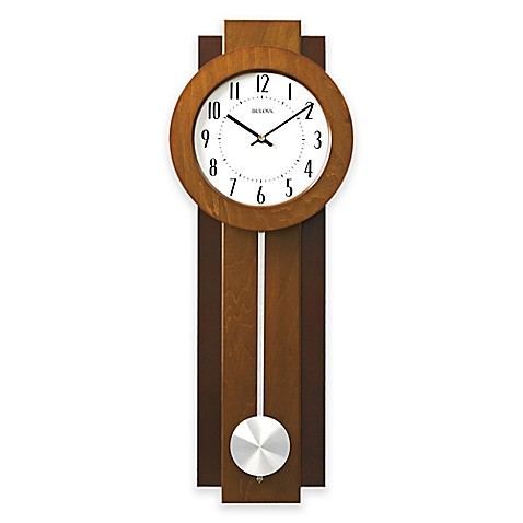 Buy Bulova Avant Wall Clock In Walnut Mahogany From Bed