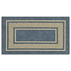 Walker Border Rug in Light Blue