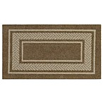 Walker Border 1-Foot 8-Inch x 2-Foot 10-Inch Accent Rug in Toast