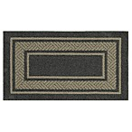 Walker Border Rug in Charcoal
