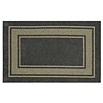 Walker Border 2-Foot 6-Inch x 3-Foot 10-Inch Area Rug in Charcoal