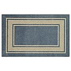 Walker Border 2-Foot 6-Inch x 3-Foot 10-Inch Area Rug in Light Blue
