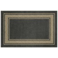Walker Border 3-Foot 4-Inch x 5-Foot Area Rug in Charcoal