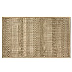 Bacova Woven Natural Textured Stripe 20-Inch x 33-Inch Accent Rug in Brown