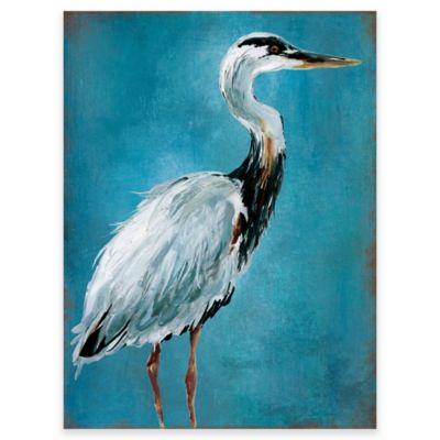 heron wall art in blue buy heron wall art from bed bath  u0026 beyond  rh   bedbathandbeyond