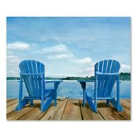 Adirondack Chairs Seated Together Canvas Wall Art