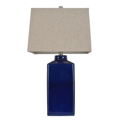Buy table lamp shades in blue from bed bath beyond ceramic table lamp in blue with fabric shade aloadofball Choice Image