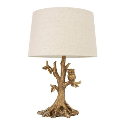 Buy gold leaf lamp table from bed bath beyond dcor therapy owl table lamp in gold leaf with oatmeal linen shade aloadofball Images