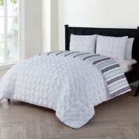 VCNY Brielle Twin Duvet Cover Set in White