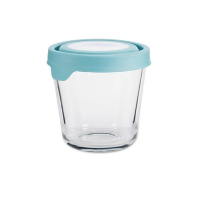Anchor Hocking True Seal 3.5 Cup Tall Round Food Storage In Blue