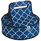 Home Essentials & Beyond Insulated Casserole Pie Tote in Navy/White