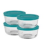 Anchor Hocking 8-Piece 1-Cup Round Basic Food Storage Set