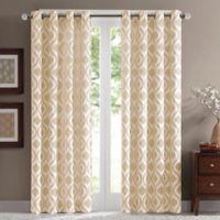 Madison Park Verona 95-Inch Grommet Top Window Curtain Panel in Ivory